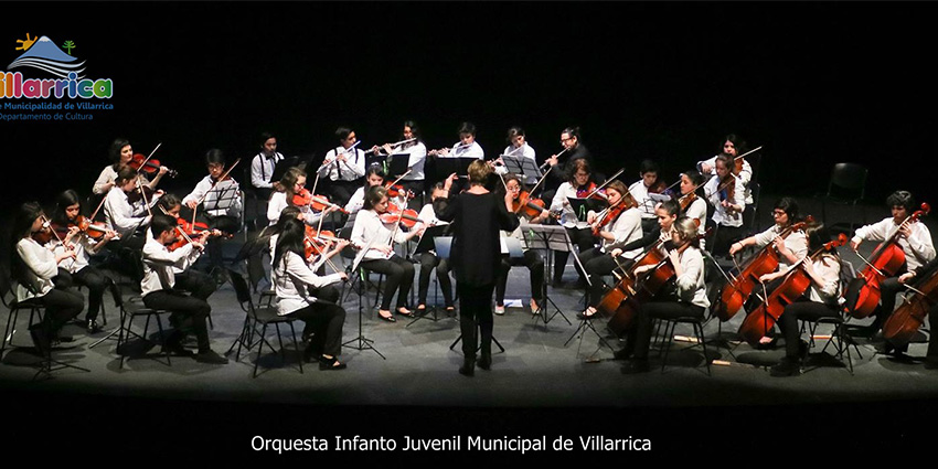 Orquesta Infanto Juvenil Municipal de Villarrica se prepara para este año